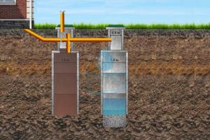 Купить септик из бетонных колец недорого с установкой под ключ